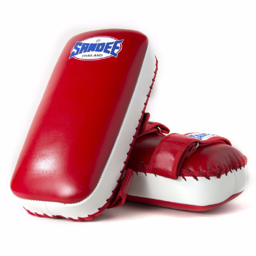 Sandee Straight Thai Kick Pads - Red